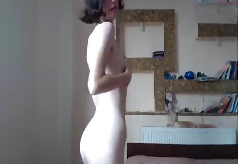 Extreem fijn webcam deerntje met harig flamoes
